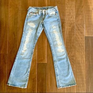 TRUE RELIGION Bobby Distressed Light Wash JEANS 27